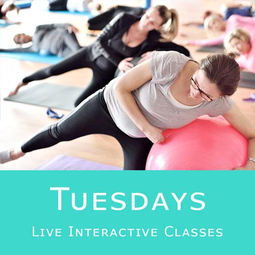 Online Pilates Classes - Tuesdays